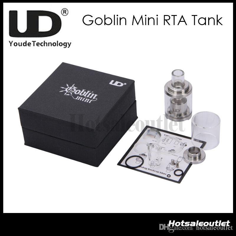 Огромный Запас Сейчас!!UD Youde Goblin Mini RTA распылитель бак 3 мл воздуха из нержавеющей стали перестраиваемый распылитель 100% оригинал