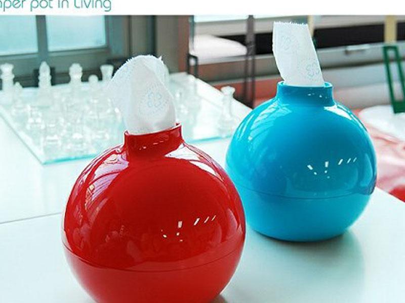 Carino Bomb Shape carta igienica carta igienica Pot Tabella tovagliolo scatola del supporto 5 colori della caramella per la decorazione domestica