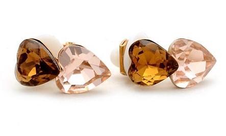 более цветные кристаллы от сердца к сердцу женские серьги (1 * 1,5 см) (myyhmz)