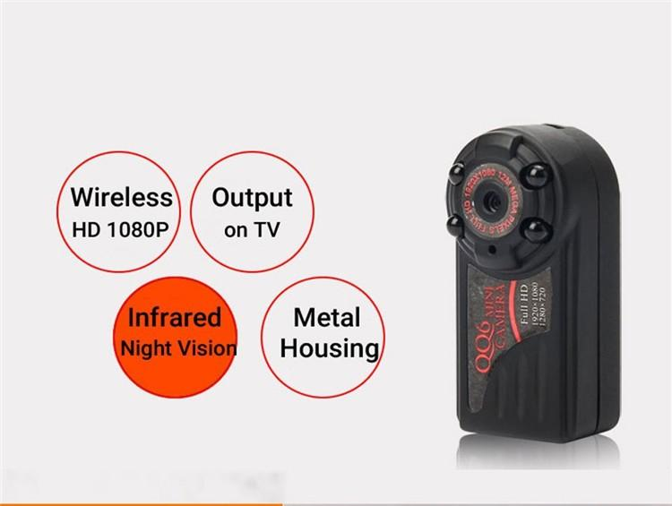 New arrival Smallest Full HD 1080P 720P Mini DV DVR Camera Camcorder IR Night Vision Motion Detect DVR QQ6 MINI DV (2)