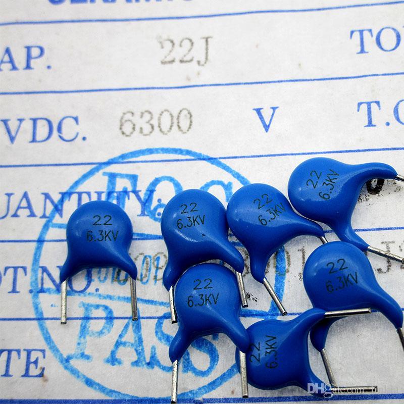 High voltage ceramic capacitor 6.3KV 22PF 6300V 22J NPO Material 5% pitch 7.5