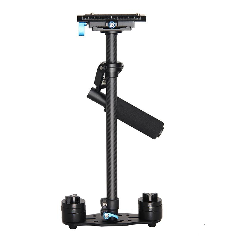 Freeshipping Steadycam Scalable Carbon Fiber Handheld Stabilizer Steadicam for Canon Nikon Sony DSLR Camera Compact Camcorder