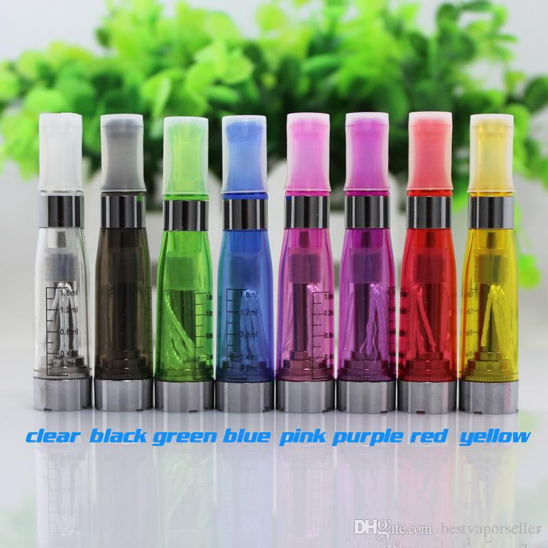 CE4 Clearomizer Atomizer Cartomizer 1.6ml vapor tank e-cigarette Electronic Cigarette for eGo battery 8 colors 4 Long wicks