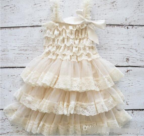 2019 Baby Girl Infant Toddler Lace Dress Princess Flower Floral Tutu Dress Zig Zag Strap Cake Jumper Satin Bowknot Ball Gown Cute From Fashionhouse