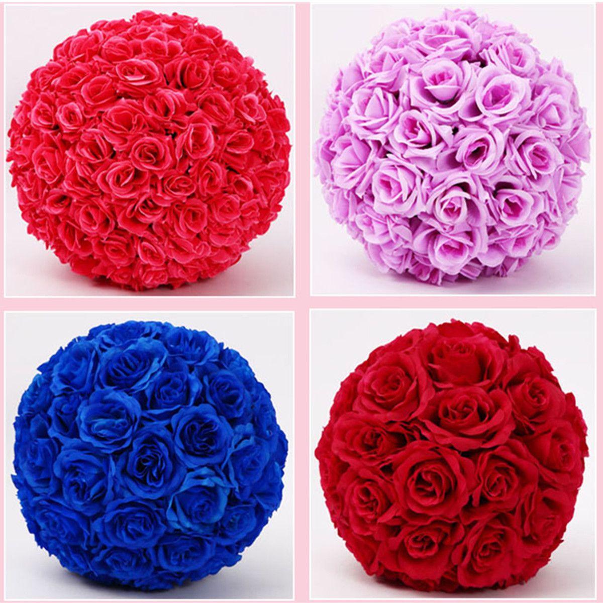 """20"""" 50cm Dia Elegant Искусственные розы Цветы Шары висячие Kissing Бал Craft орнамент 16 цветов для свадебного украшения Supplies"""