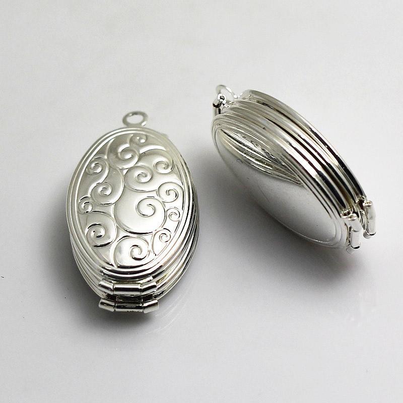 Пустая медная медальон с изображением бисера и медальоном с двумя медальонами с гравировкой и медальоном 4 подвески с подвеской ID 3294