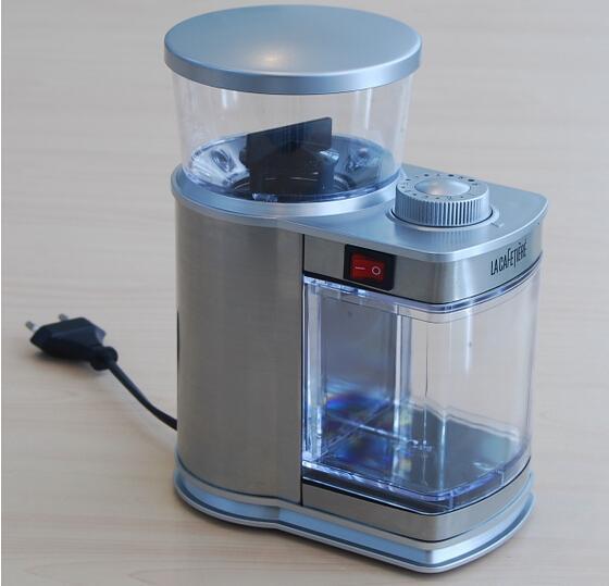 2015 أحدث وصول-النمط البريطاني طاحونة القهوة الكهربائية 220 فولت طاحونة حبوب القهوة 9 سرعة طاحونة القهوة