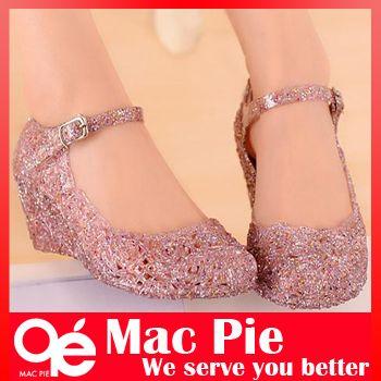 Delik ayakkabı düz sandalet kuş's-nest plastik kristal jöle kadın sandalet ayakkabı