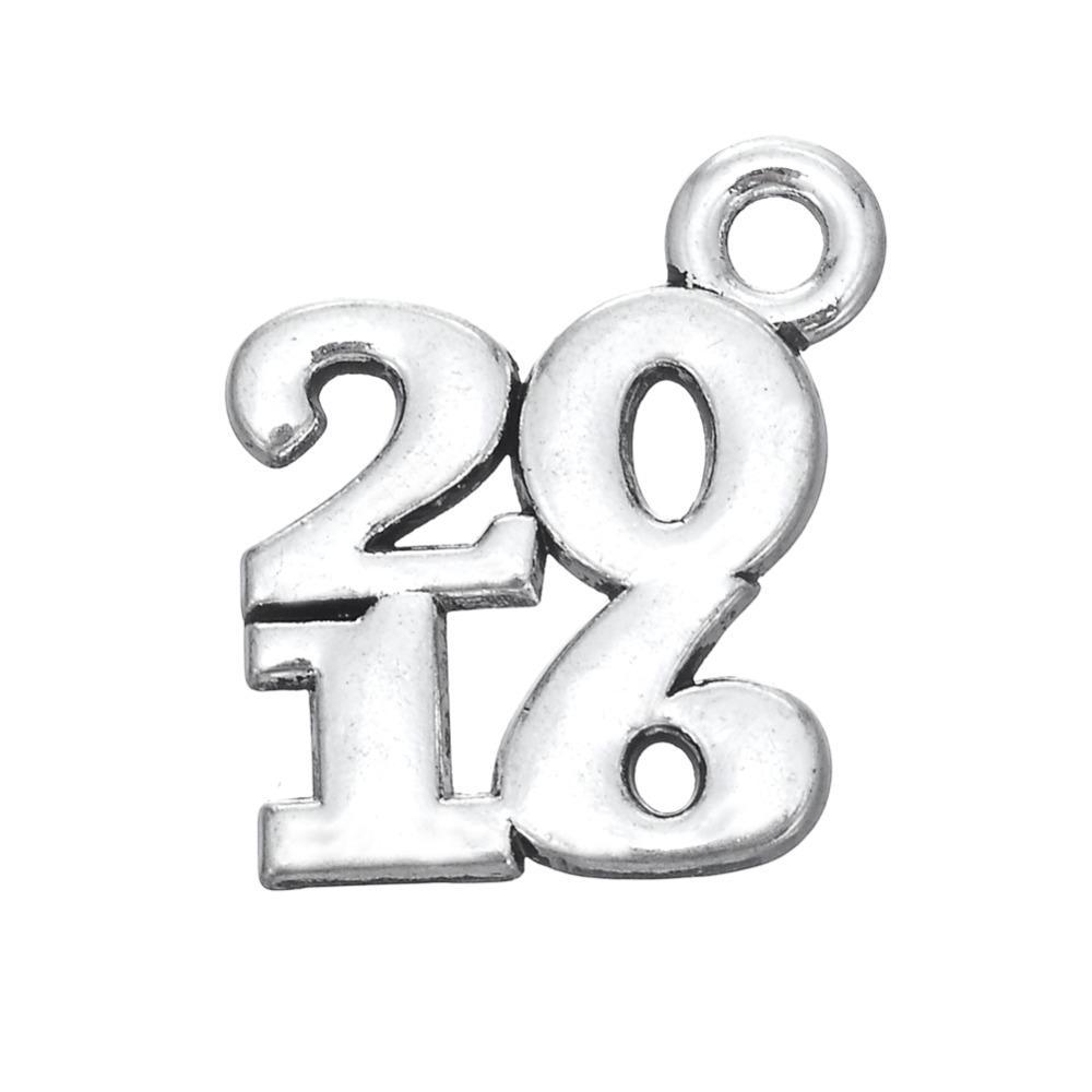 무료 배송 새로운 패션 diy에 쉽게 20pcs 2016 신년 금속 매력 보석 목걸이 또는 팔찌에 맞게 만들기