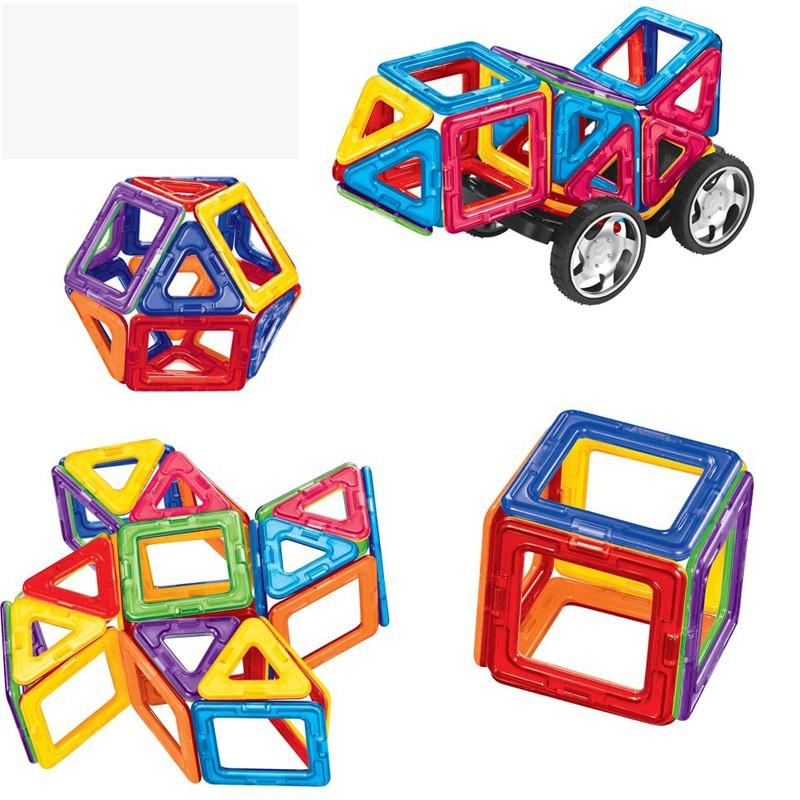Kids Toys Educational Magformers 2436 PCS Magnetic Toy 3D DIY Building Blocks ABS Plastic Blocks Toys For Baby Christmas Gift (10)