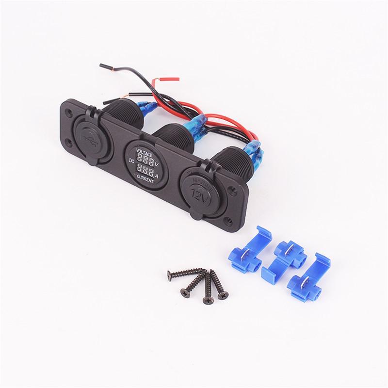 car USB power socket |DC voltage curent meter |cigarette power socket