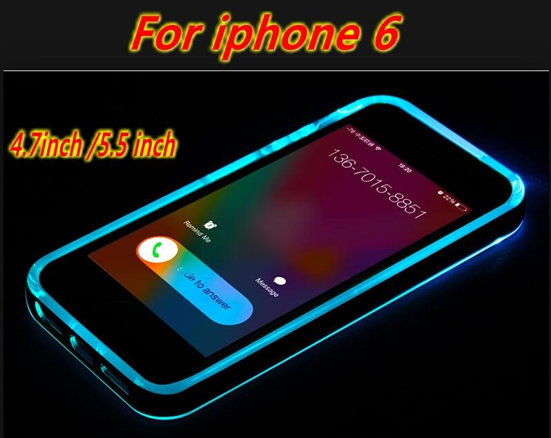 hot sale online 577fb 03d35 For IPhone 6 Case Call Light Cell Phone Cases Flash Light Up Case For  Iphone 5s Cases With Retail Package Rhinestone Cell Phone Cases Silicone  Cell ...