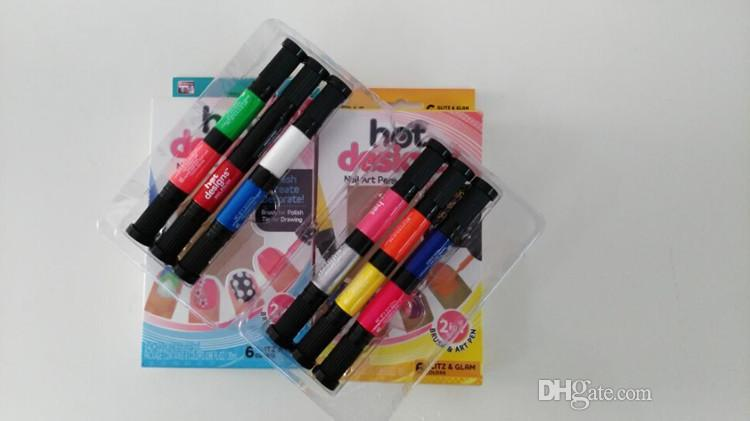 New Arrived Hot Designs 2 In 1 Nail Brush Art Pen Diy Nail Polish