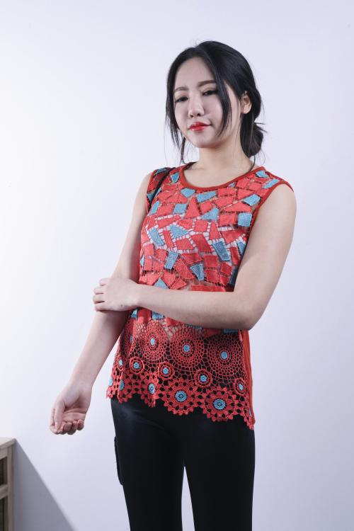 수용성 민소매 조끼 란제리 (겉옷) 천축 폴로 니트 속옷 속옷 민소매 차양 복장 폴리 에스테르 원사