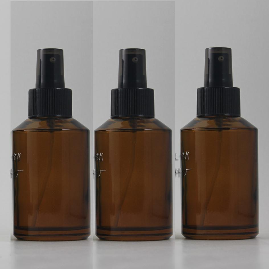 검은 플라스틱 펌프, 화장품 포장, 화장품 병, 액체 포장 125ml 앰버 / 갈색 유리 로션 병