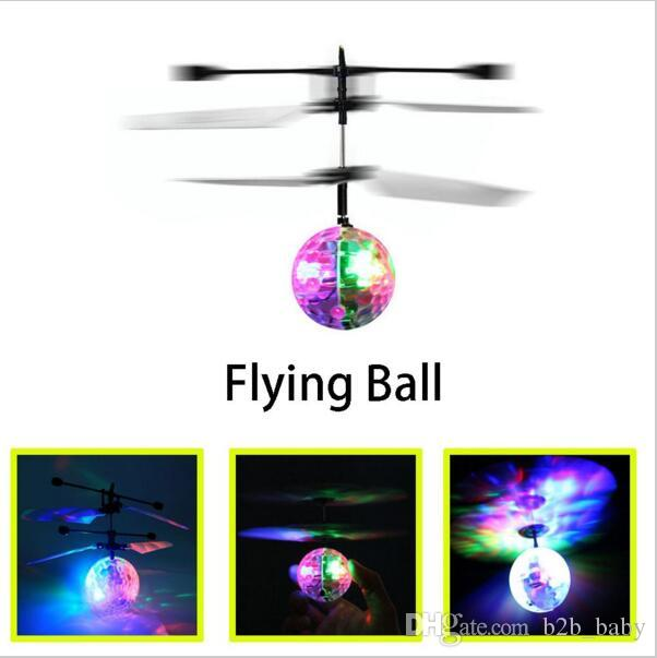RC Toy RC infrared Induction Helicopter Ball Built-in Shinning LED Lighting for Kids, Teenagers Colorful Flyings for Kid YYA882