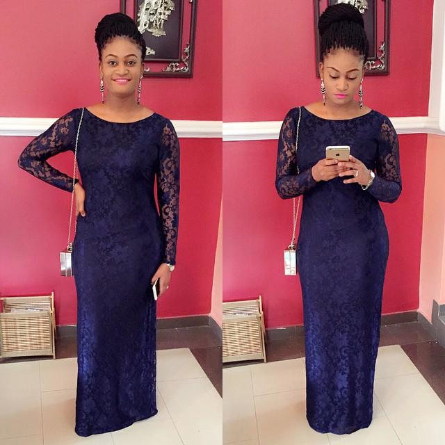 2015 Navy Lace Sheath Bridesmaid Dresses Long Sleeves African Wedding Party Dresses Mother of the Bride Gowns Scoop Evening Prom Dresses