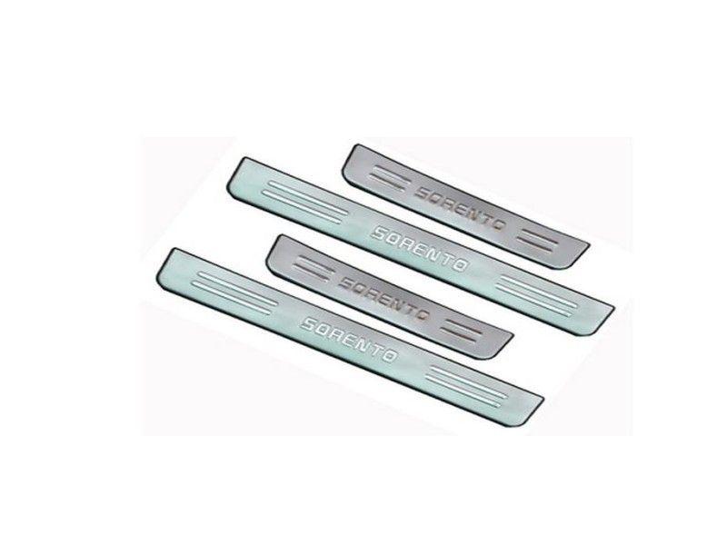 KIA Sorento 2006-2013 için Paslanmaz Çelik Itişme Plaka / Kapı Eşiği araba aksesuarları KIA Sorento için