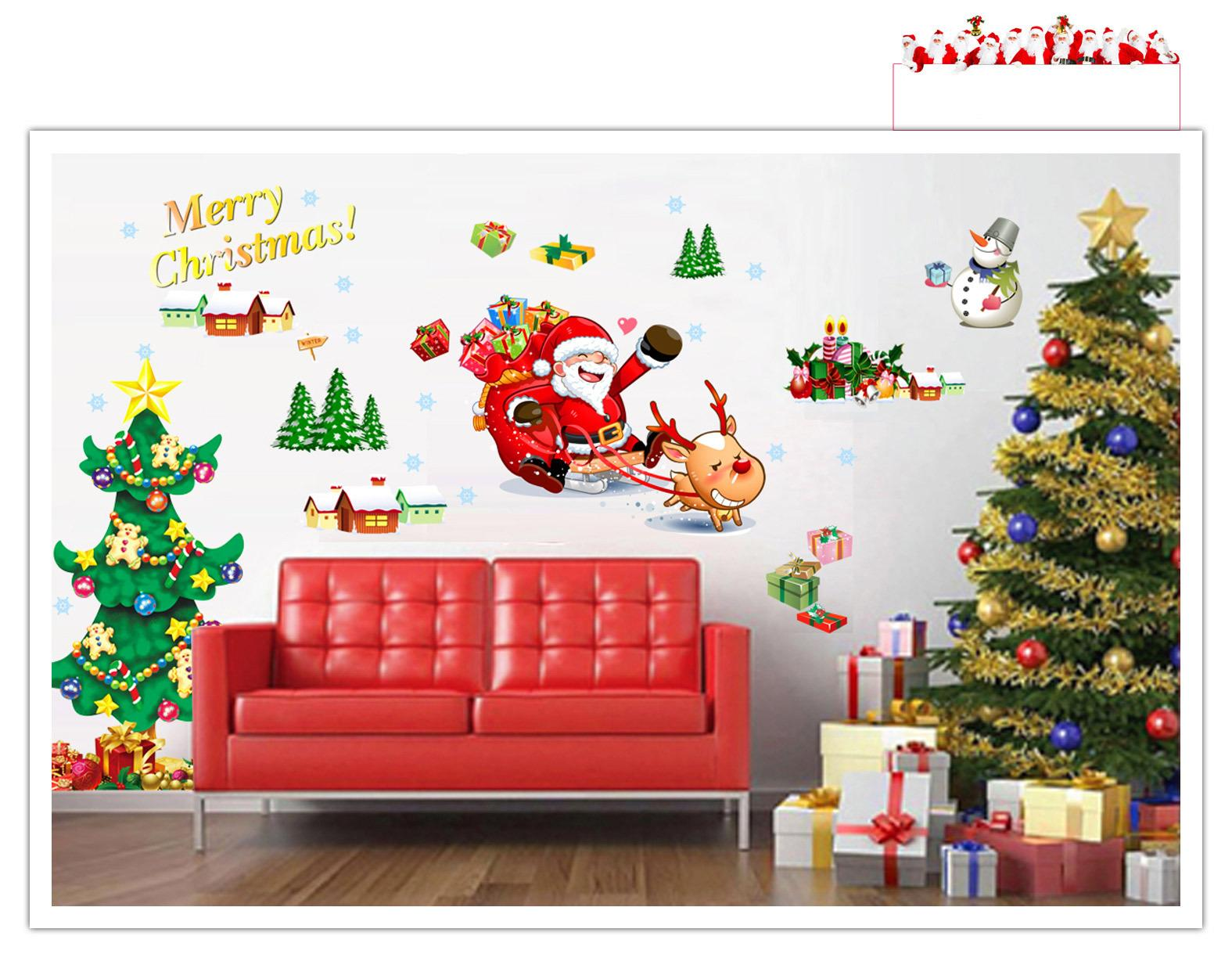 Christmas Decoration Wall Sticker Wall Tattoo Set 60 Star X-mas Christmas