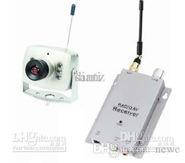 무선 마이크로 CCTV 보안 미니 핀홀 A / V 오디오 감시 RC 카메라 수신기 1.2ghz 키트