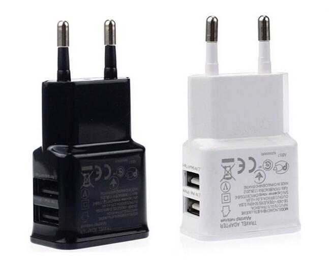 5 V 2A Dual USB EU US Plug Home Carger Ładowarka Zasilacz do telefonów komórkowych