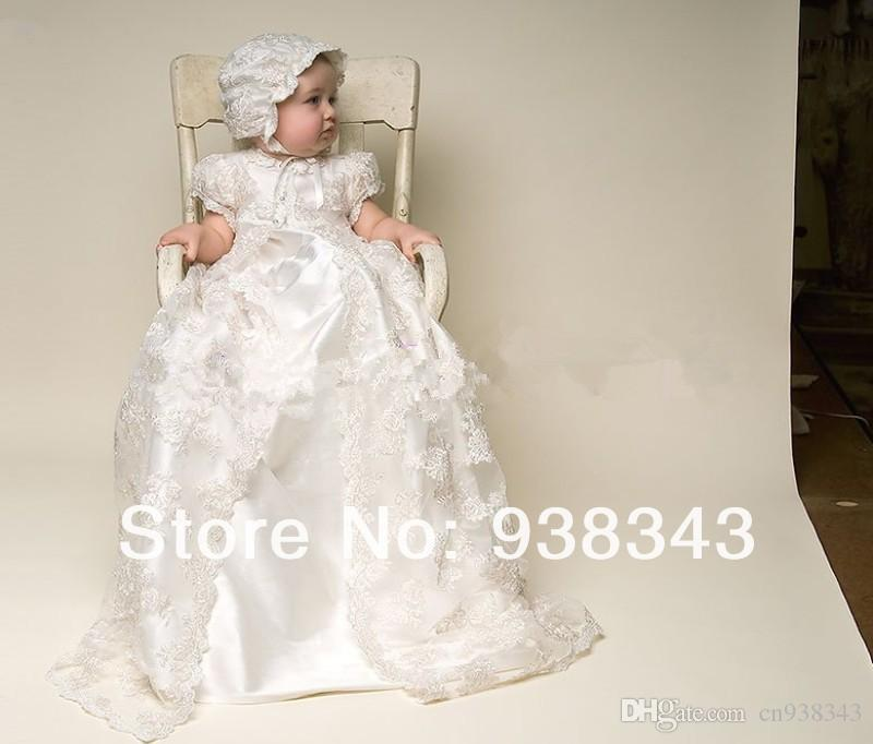 2018 Hot Sale Infant Children Clothing Silk Lace Christening Gowns ...