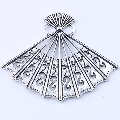2016 Venda Quente de Prata / Cobre retro Fan Breasted Pingente de Fabricação de jóias DIY pingente fit Colar ou Pulseiras charme 25 pçs / lote 1482c