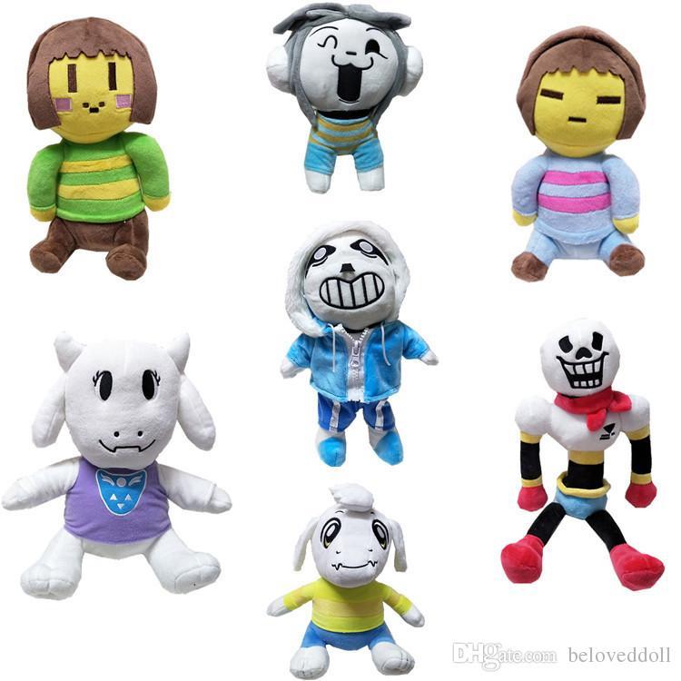 Hot Sale 7 Style 20 36cm Undertale Sans Papyrus Asriel Toriel Chara Frisk  Stuffed Doll Plush Toy For Kids Christmas Gifts 001# Big Stuffed Toys