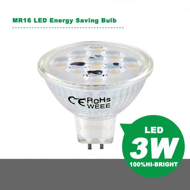 MR16 LED Энергосберегающие лампы прожектор 3W 9SMD 8-24V светодиодные лампы Лампочки светодиодные лампы Энергосберегающие лампы