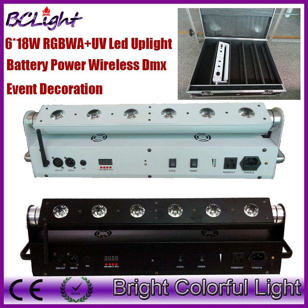5 шт+1 fly case / lot DHL бесплатная доставка красочные свадебные декора светодиодные фонари светодиодные батареи беспроводной dmx led сценический свет