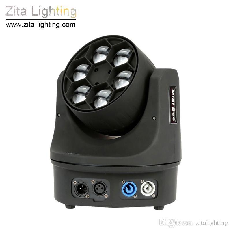 Zita Lighting LED Moving Head Lights Beam Zoom Mini Bee Eye 6X15W RGBW Stage Lighting DJ Club Disco Bar Theater Exhibition Show Effect