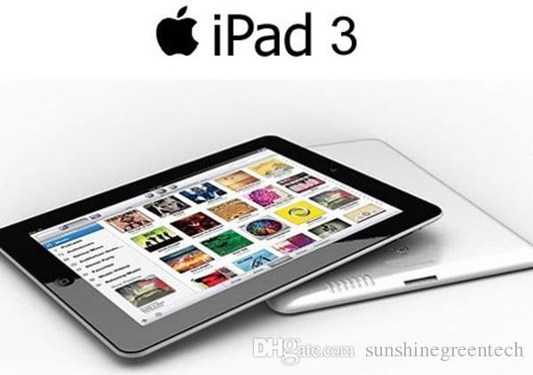 """% 100 Orijinal Apple Yenilenmiş iPad 3 16GB 32GB 64GB Wifi + 3G Hücresel iPad3 Tablet PC 9.7"""" IOS Tablet Çin Toptan DHL yenilenmiş"""