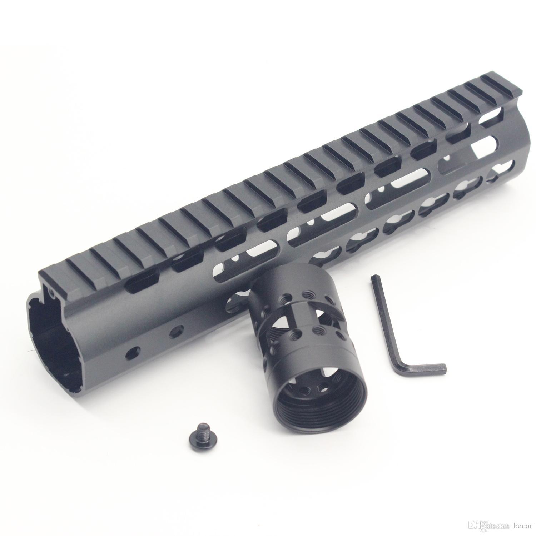 9 pollici Keymod Handguard design ultraleggero Guida superiore monolitica Dado cilindrico in acciaio Colore balconcino