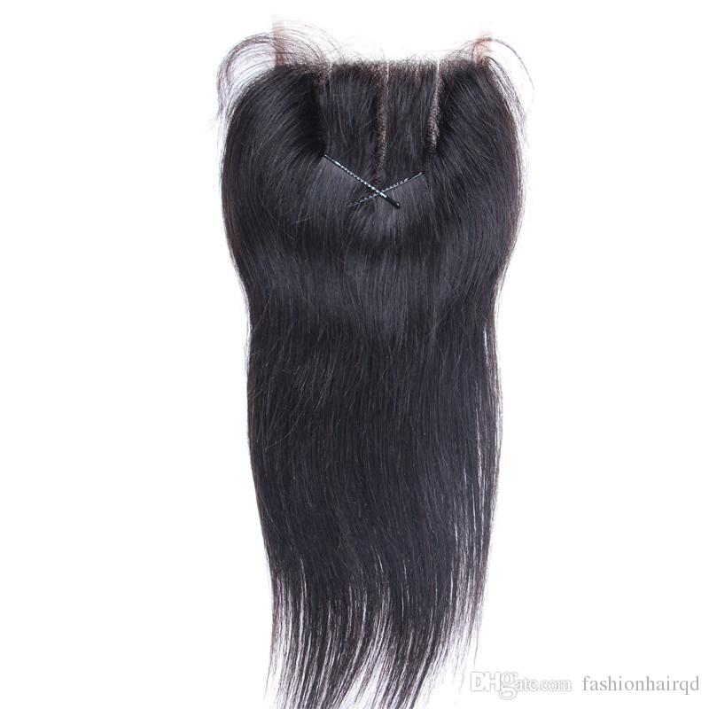 Straight Human Hair Lace Closure Free Middle 3 Way Part 8A Grade Unprocessed Raw Indian Virgin Hair Lace Top Closure Bleached Knots