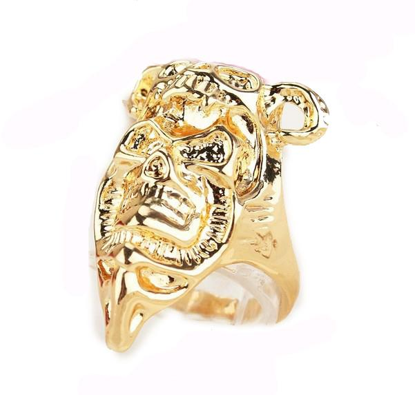 Hot Sell New18k Gold Filled Free Shipping Fashion Women Birthday Gift/Party Skeleton Size 8.5Rings Jewelry
