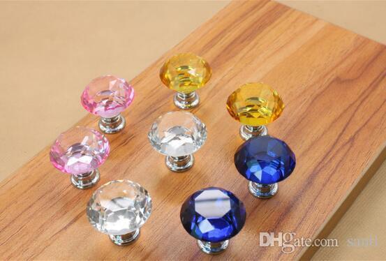 Fashion Hot Clear Crystal Knob Cabinet Pull Handle Drawer Kitchen Door Wardrobe Hardware