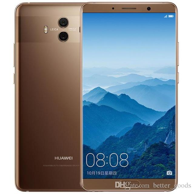 Original Huawei Mate 10 4G LTE Cell Phone 4GB RAM 64GB ROM Kirin 970 Octa Core Android 5.9 inch 20.0MP NFC Fingerprint ID Smart Mobile Phone