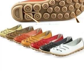 Livraison gratuite nouvelle arrivée femmes chaussures simples en cuir véritable sandales vache muscle outsole été infirmière travail chaussures femme appartements