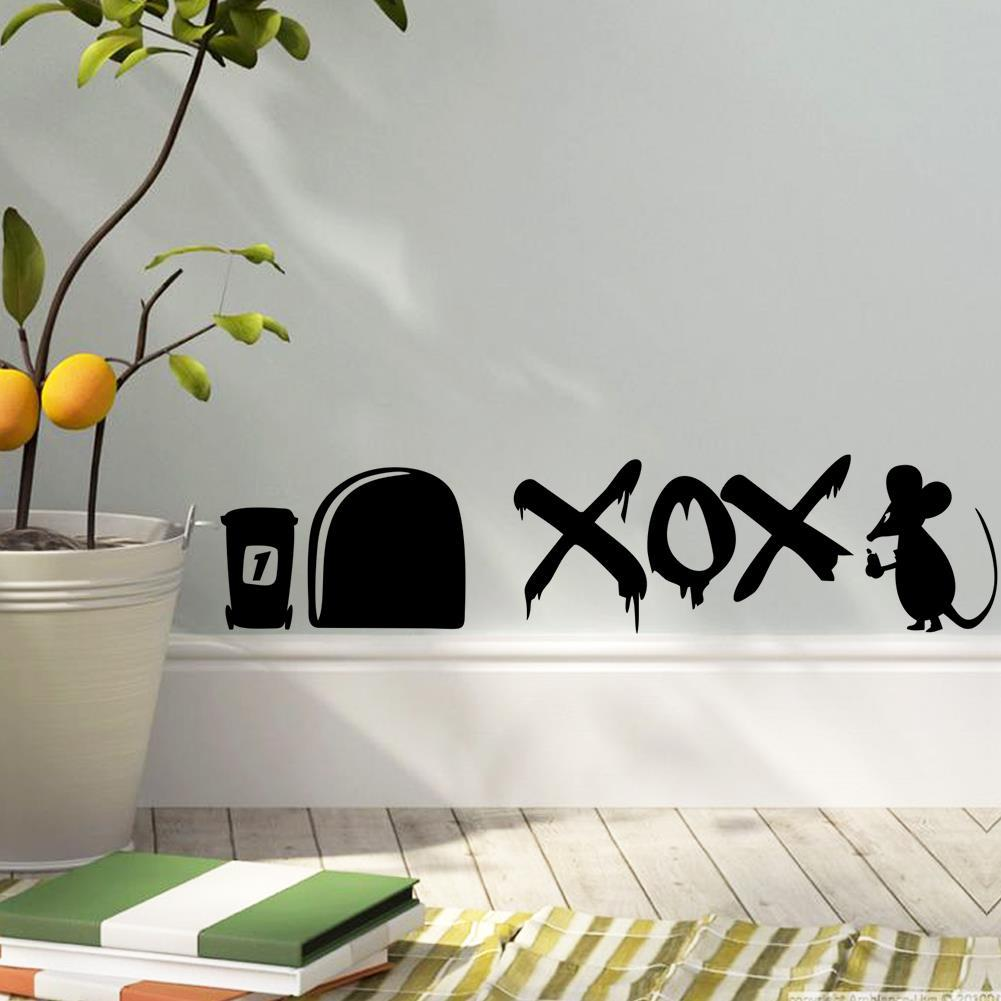 graffiti wallpaper for room wallpapersafari painting graffiti on 3d funny painting mouse mouse hole wall stickers decals living