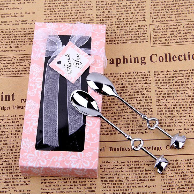 Mini Tea Coffee Fork Spoon Set Cake LOVE POP Shape Simpatici regali di nozze nessie coffee spoon paletta di gelato