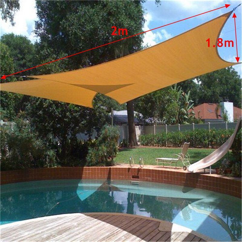 일 그늘 차양 차양 블록 항해 대피소 그물 옥외 정원 차 덮개 천개 안뜰 수영장 Sunscreen Accessories 2X1.8m