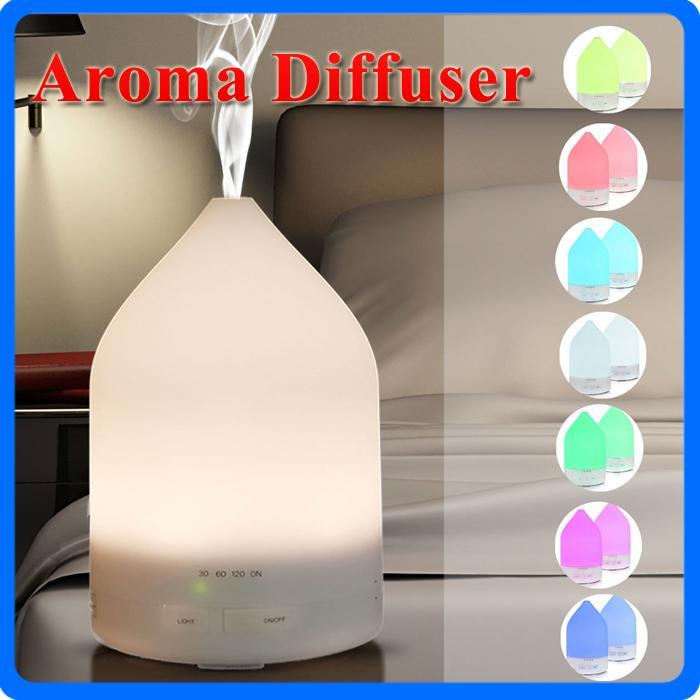 150ml ultrasonique huile essentielle diffuseur aromathérapie humidificateur d'air parfum bureau de pulvérisateur purificateur machine à brouillard avec des lumières colorées LED