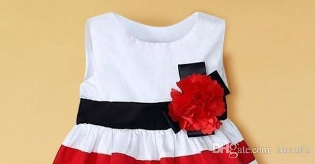 2018 2018 baby girl dress red and white striped flower girls 2018 baby girl dress red and white striped flower girls princess dresses for children kids clothing mightylinksfo