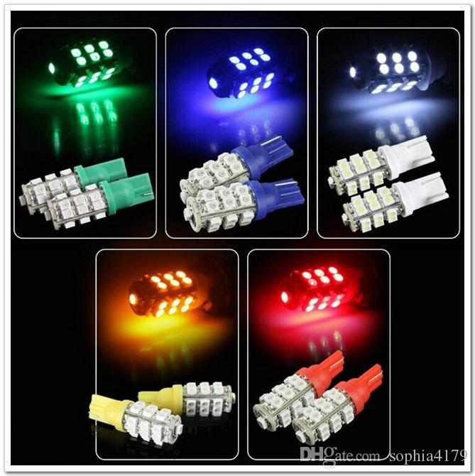 Surper Bright 6PCS T10 W5W 194 168 25 SMD 1210 25 LEDナンバープレートライトLED車の電球