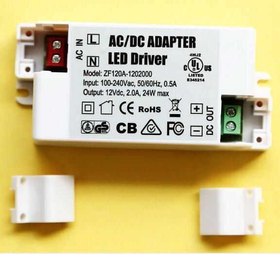 direto da fábrica, MR16 Externo 12 V 2A 24 W LED Driver fonte de alimentação de comutação