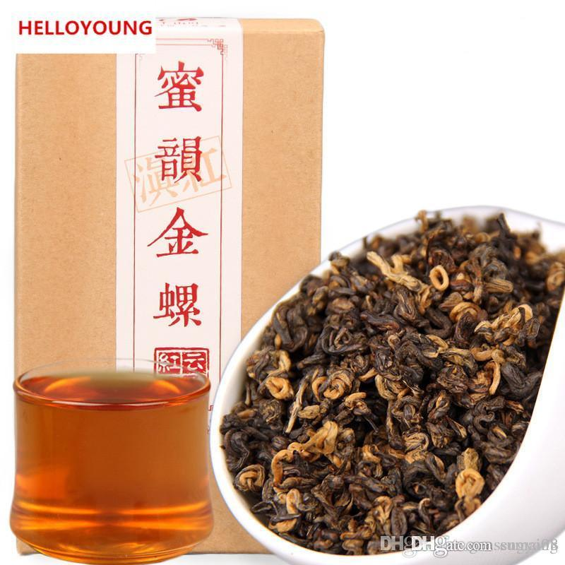 Tercih 200g Çin Organik Siyah Çay bal kafiye altın Kırmızı Çay Sağlık Yeni Pişmiş çay Yeşil Gıda Kutu Fabrika Doğrudan Satış vida