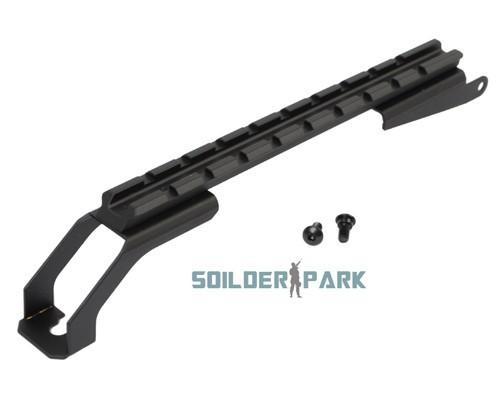 Airsoft Tactical Alumínio Weaver Rail Mount para AK47 Preto exterior Caça Tiro Combate miitary Rifle Acessório frete grátis pedido de US $ 18no
