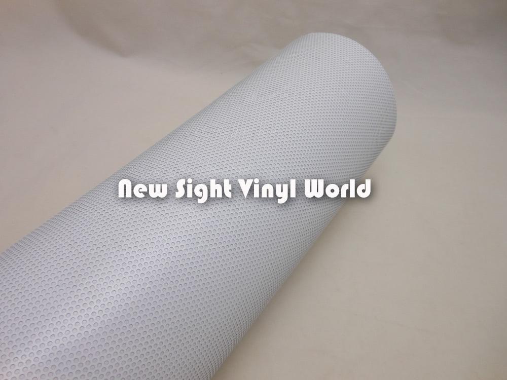 高品質印刷可能な溶媒白の一方向視力ビニル白穿孔自己接着ビニールエコソルベントプリンタのサイズ:1.07×50m /ロール