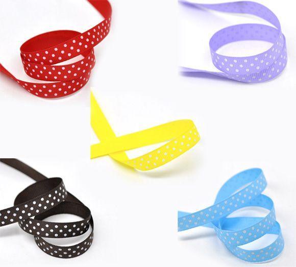 """Beijia Mixed Dot 3/8 """"Wide Wedding Craft Grosgrain Ribbon, venduto per confezione da 50 iarde (45M)"""