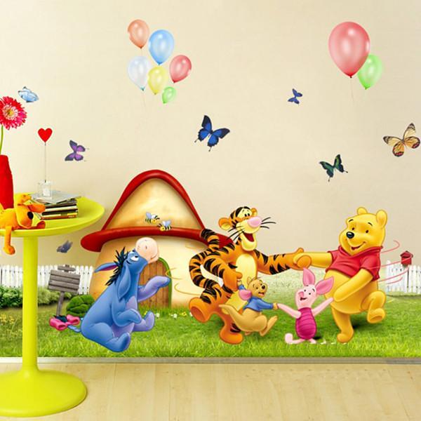 Nursery / Kid\'S Room Cartoon Bear Wall Sticker Removable Fashionable ...